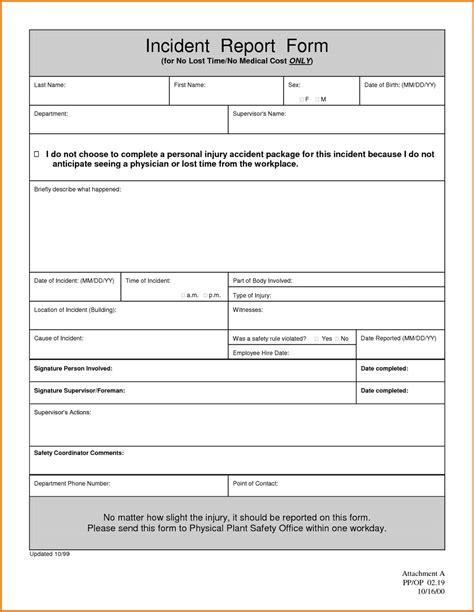 student behavior incident report form school template