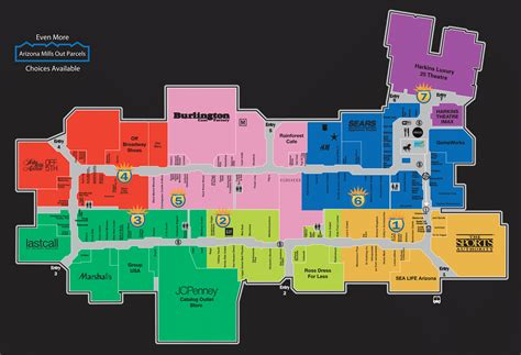 ontario mills map az mills mall directory map