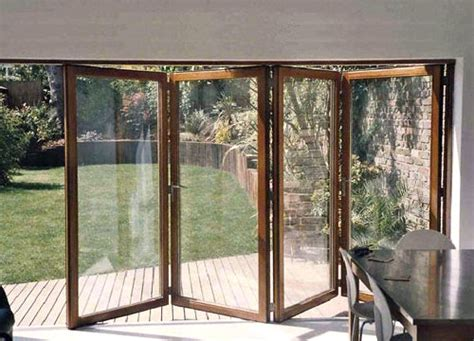wooden bi folding patio doors sunroom and folding patio