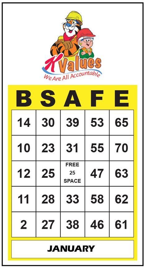 safety bingo template printable safety bingo cards printable and coloring page