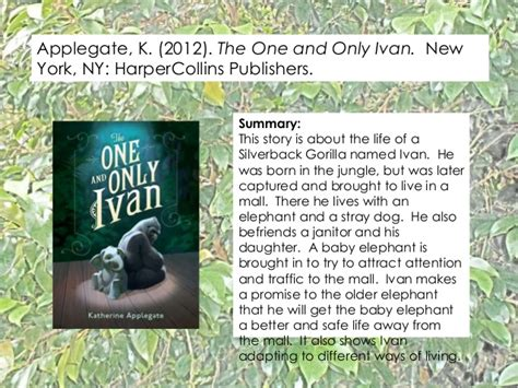 the one and only ivan book report the one and only ivan integrated literature guide