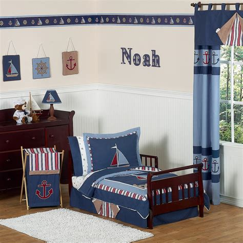 blue toddler bed blue nautical toddler bedding thedigitalhandshake