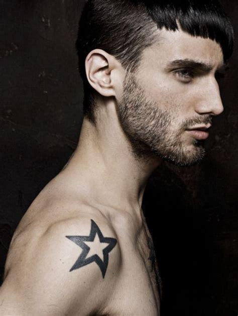 star tattoos for men on shoulder black shoulder for