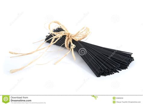 Black Spaghetti With Cuttlefish Ink. Stock Photo - Image ...