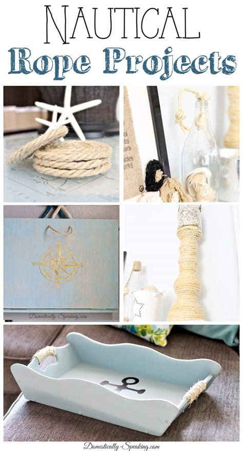nautical diy crafts nautical rope diy projects domestically speaking