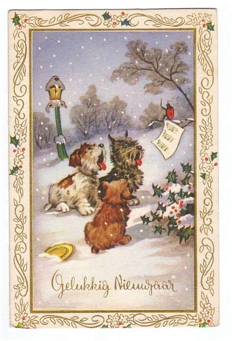 vintage animal christmas cards vintage christmas cards christmas illustration vintage