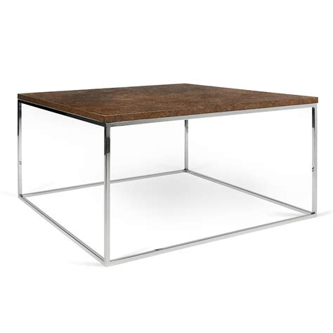 how to clean rust chrome table legs gleam rust chrome modern coffee table by temahome eurway