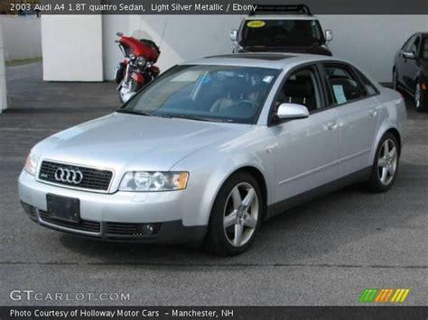 2003 audi a4 1 8t quattro light silver metallic 2003 audi a4 1 8t quattro sedan