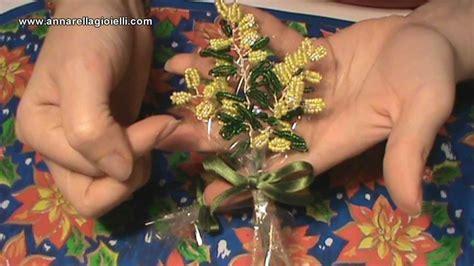 fiori con le perline tutorial fiori con le perline mimosa beaded mimosa