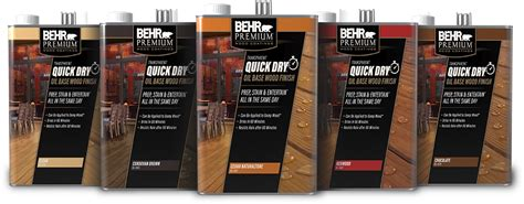 transparent quick dry oil based wood finish behr