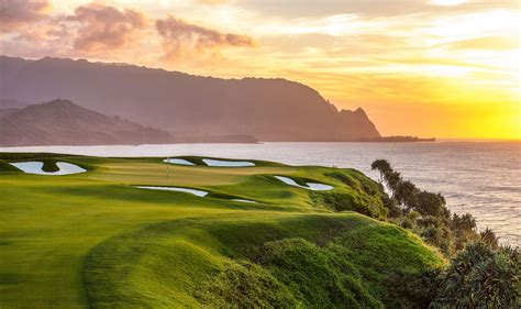 sunset course at country club hawaii on kauai you can head off into the sunset on golf
