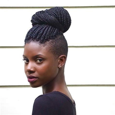 side shave hairsstyle african american best 25 thick box braids ideas on pinterest natural