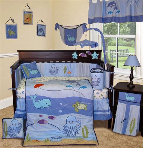 Sea Themed Crib Bedding by The Right On Vegan Baby Room Decorating