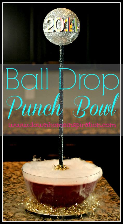 new year punch lines diy drop punch bowl home inspiration
