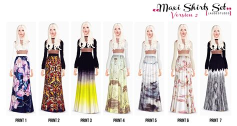 Set Maxi Tamara laude studio maxi skirts set