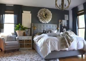Dark Grey Bedroom by Our Wood White And Gray Bedroom