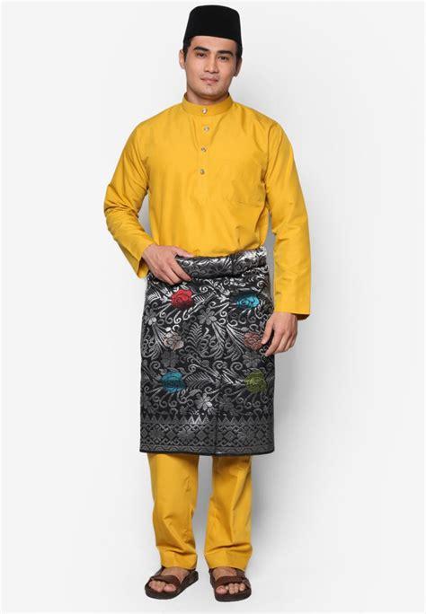 Baju Kurung Moden Kuning Mustard baju melayu moden amar amran cotton mustard yellow aa1039bm amar amran boutique
