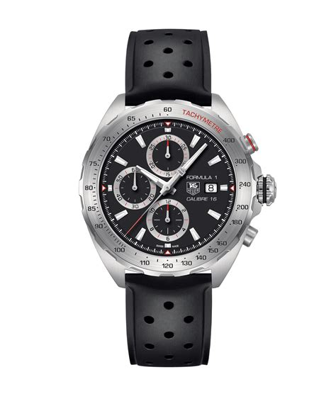 Tagheuer Formula1 Monaco Silver Black Leather tag heuer formula 1 calibre 16 automatic chronograph 44 mm caz2010 ft8024 price