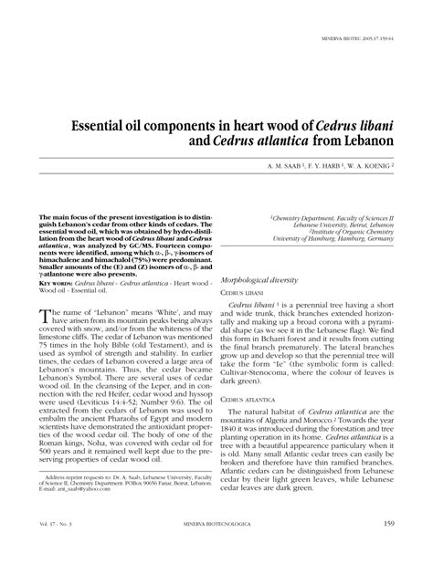 the essential woodworker pdf essential oils components in wood of cedrus libani