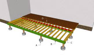 Free standing deck building plans