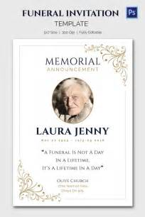 Funeral Announcements Template 15 funeral invitation templates free sle exle