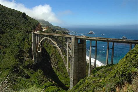 bridge bid bixby bridge pacific coast hwy california as fog