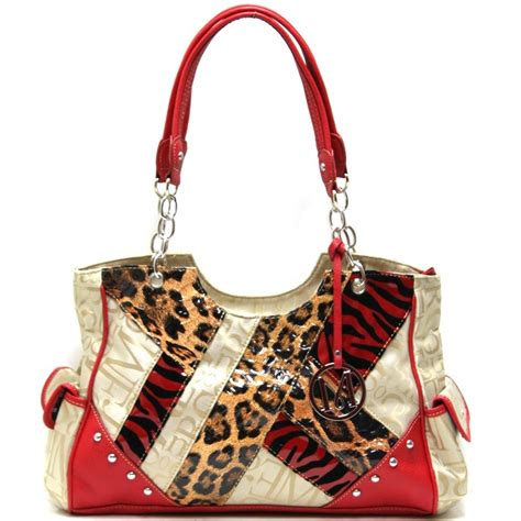Patchwork Handbag - m style patchwork handbag g style signature handbags