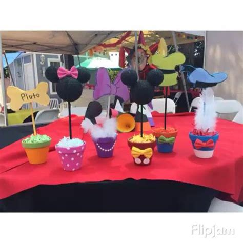 mickey mouse club house center pieces diy