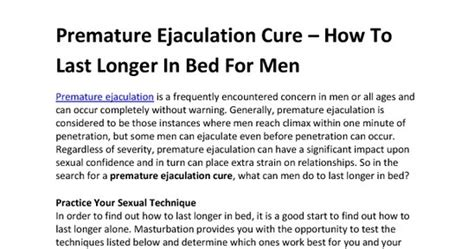 how to last longer in bed for men without pills valentinevelasquez premature ejaculation treatment 2009