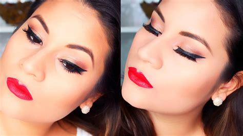 labios con glitter rojo brillantina youtube maquillaje para morenas o trigue 209 as i labios rojos