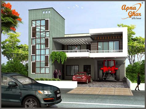 Duplex House Design Apnaghar House Design Home Desig