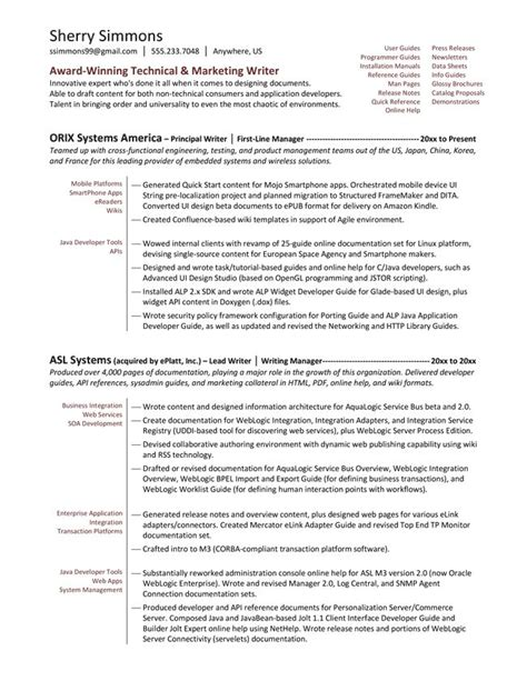 technical writer resume exles 171 best images about resume exles on