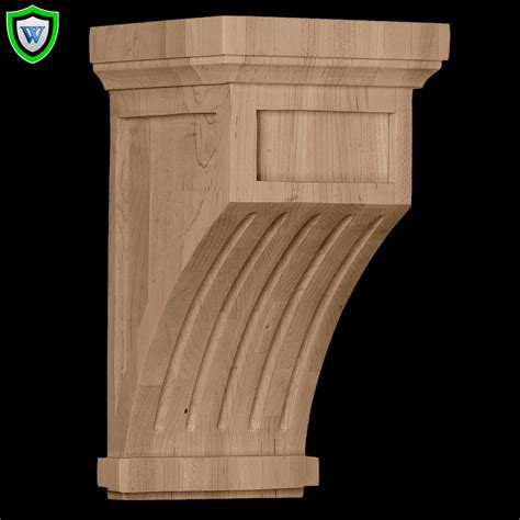 Column Corbel Wood Fluted Corbel Style Shop Columns 1 800 486 2118