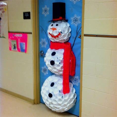 christmas craft ideas snowman door decoration classroom
