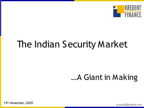indian security market