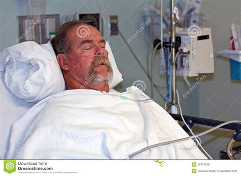 guy in hospital bed man in hospital bed asleep royalty free stock images