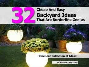 Inexpensive Backyard Designs 32 Cheap And Easy Backyard Ideas That Are Borderline Genius