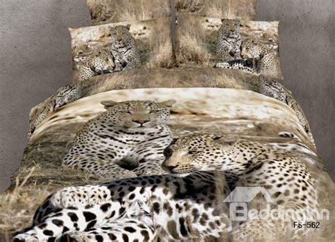 animal print bedding sets unique leopard 3d animal print 4 piece duvet bedding sets beddinginn com
