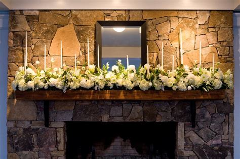 #Wedding flowers for the fireplace hearth at The Garden