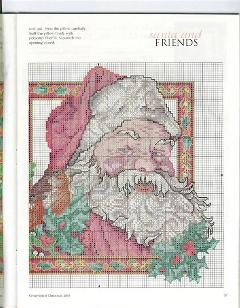 my pillow color codes cross stitch santa pillow part 3 color chart on part 2