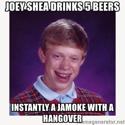 joey shea drinks 5 beers instantly a jamoke with a