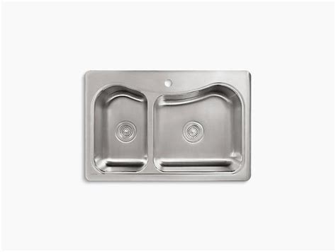 Kohler Staccato Kitchen Sink by Kohler Staccato Drop In Stainless Steel Bowl