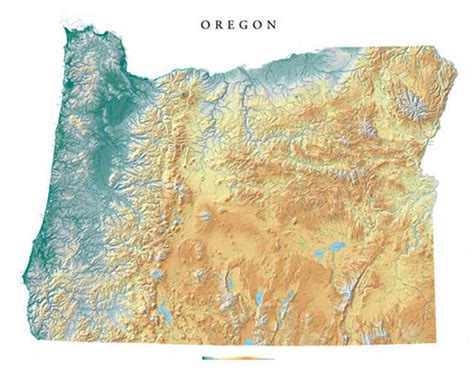 3d topographical map of oregon oregon wall map a spectacular physical map of oregon