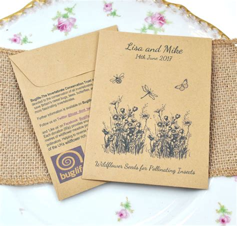 Wedding Favors Seeds by Buglife Seed Packet Charity Wedding Favour Wedding Ideas