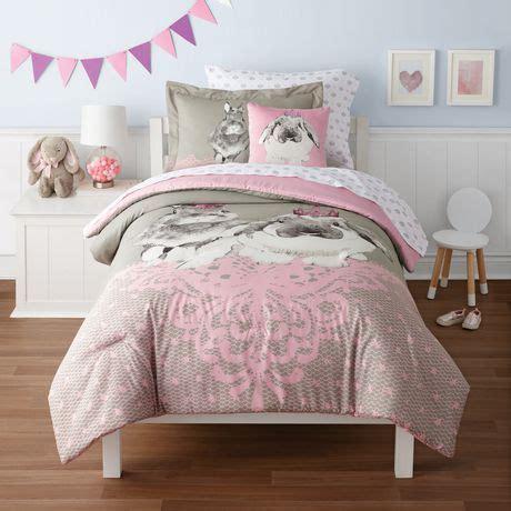 bunny bedding set mainstays kids bunny bed set walmart canada