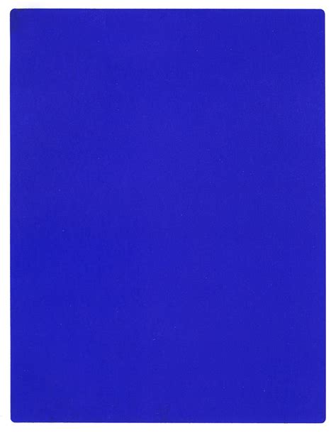 Yves Klein Blue by Yves Klein On Monochrome Ants And Venus