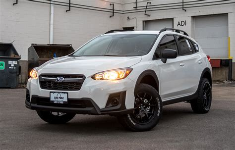 subaru trek white subaru crosstrek lifted enkei package auto accessories