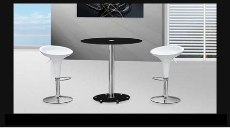 Glass Bar Table And Stools Black Glass Bar Table And Stools Homegenies