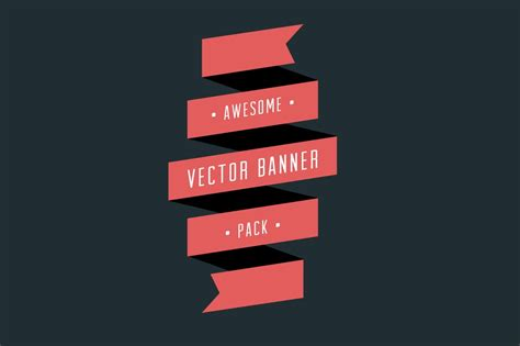 vector banner pack graphic objects creative market