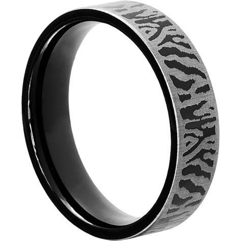 black tungsten metal rings flat 6mm unique wedding bands